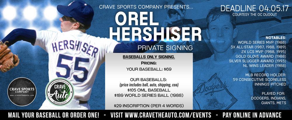 Orel Hershiser WS MVP Signing