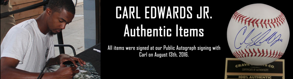 Click here to see autographed items from Carl Edwards Jr. for sale!
