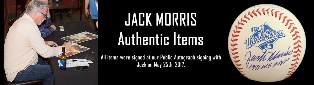 Click here to see autographed items from Jack Morris for sale!