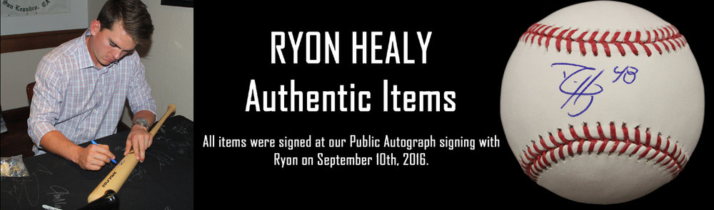 Click here to see autographed items from Ryon Healy for sale!