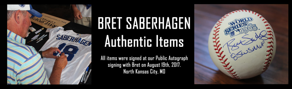 Click here to see autographed items from Bret Saberhagen for sale!