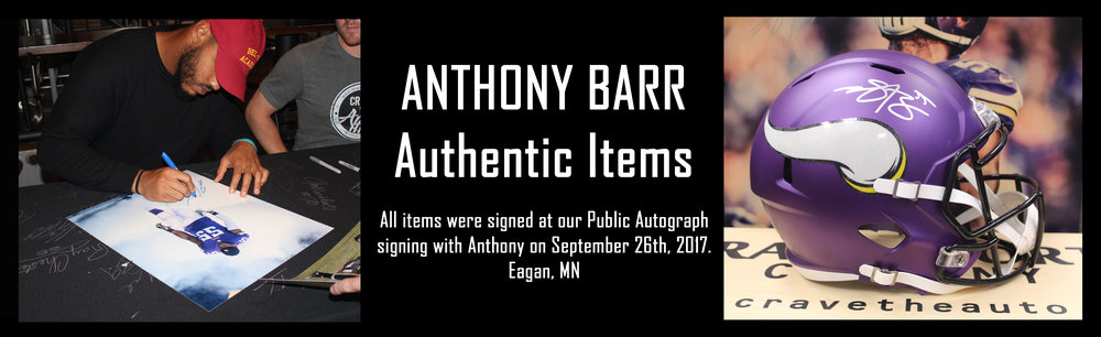 Click to see autographed items from Anthony Barr for sale!