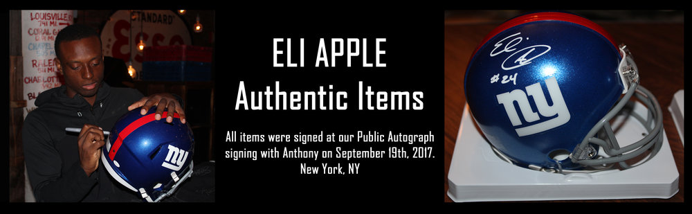 Click to see autographed items from Eli Apple for sale!