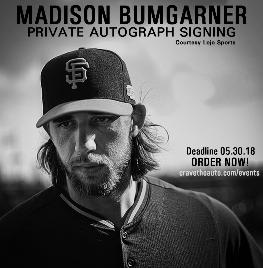 Madison Bumgarner Signing - Click for details!!  PLACE YOUR ORDER TODAY!!
