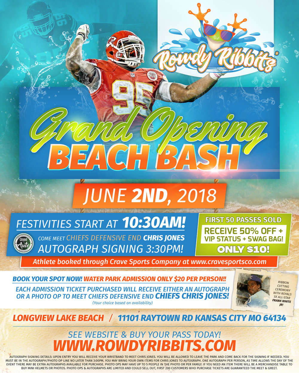 Chris Jones Autographs at Rowdy Ribbit's Grand Opening!! See details!