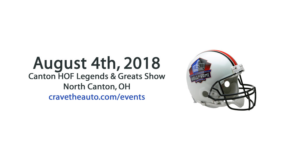 Canton Hall of Fame Show! Buy tickets or order an item to have signed & shipped to you!
