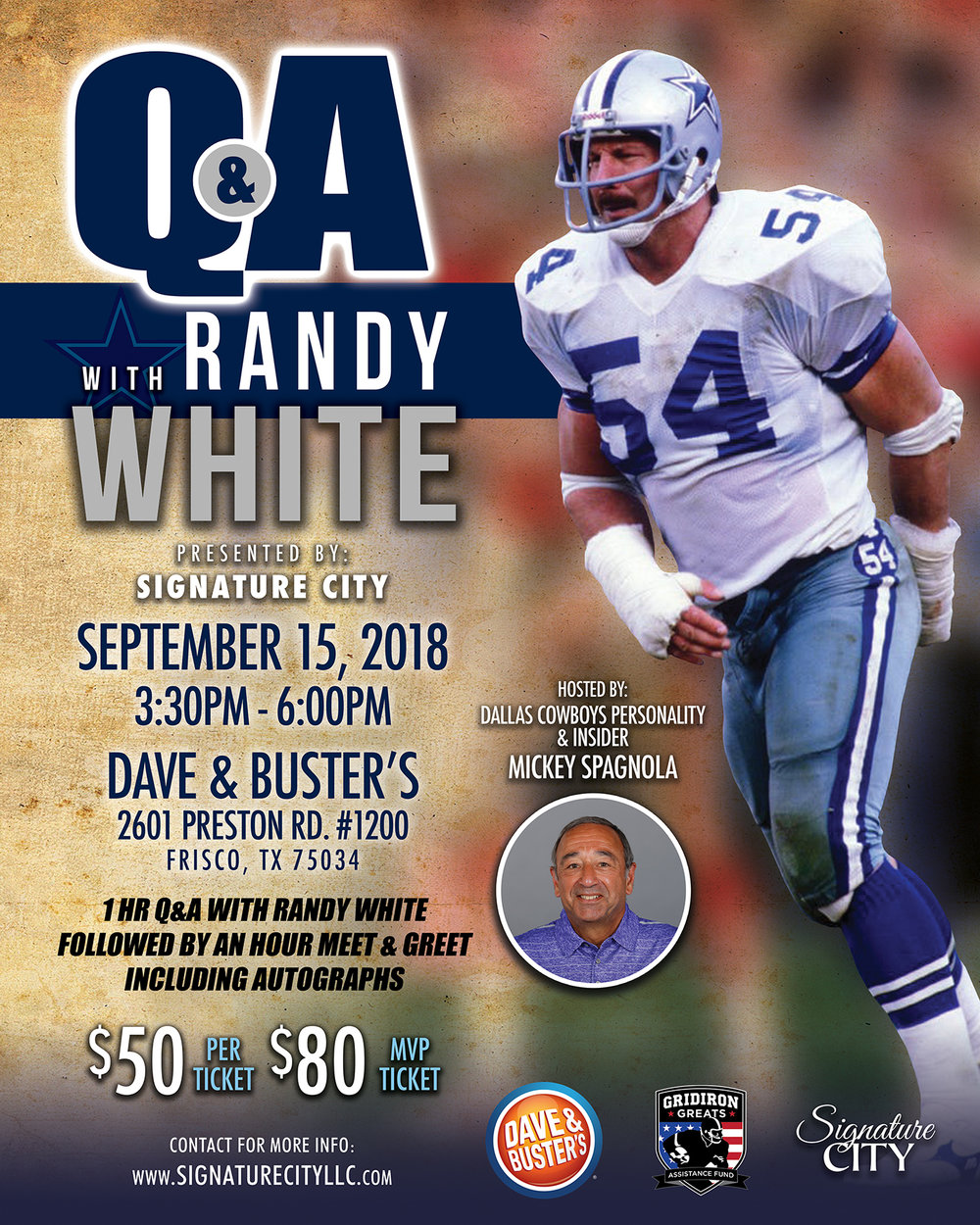 Randy white dallas cowboys great crave the auto dallas cowboys ring of honor 2 first team all american 1973 1974 lombardi award 1974 outland trophy 1974 upi lineman of the year 1974 m4hsunfo