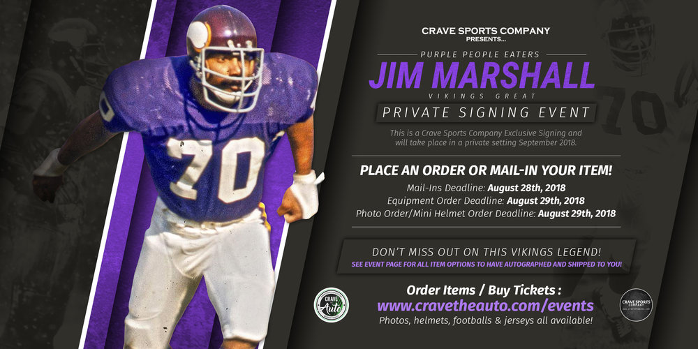 Click here for tickets or to order an item for Marshall to sign!!