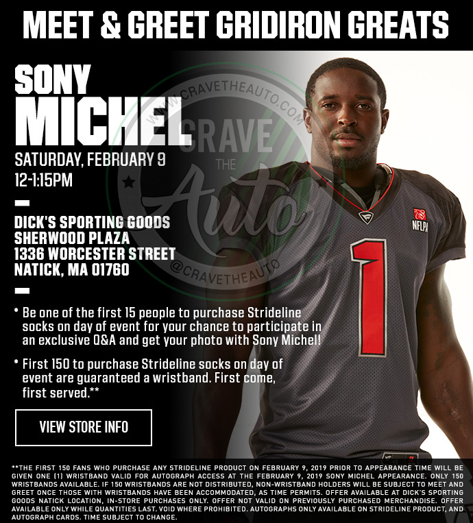 SONY MICHEL New England Patriots — Crave the Auto bf0a28cea