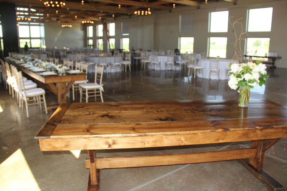 Custom made farm table