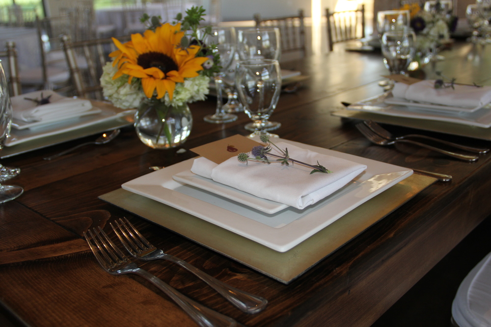 Place setting for a food tasting