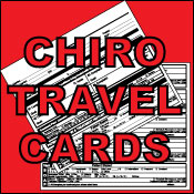 Order Chiropractic Travel Cards.