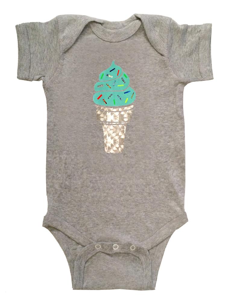 3a5c474c6 Mint Ice Cream Baby Onesie — OFF DUTY NYC