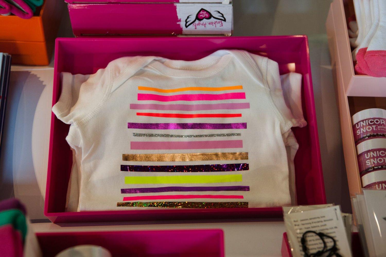 0569cba28 Stripe Baby Onesie Pink Tones — OFF DUTY NYC