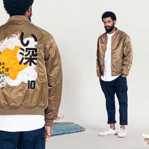 "This bomber jacket from the #10deep ""Chaos Theory"" collection is souper official."