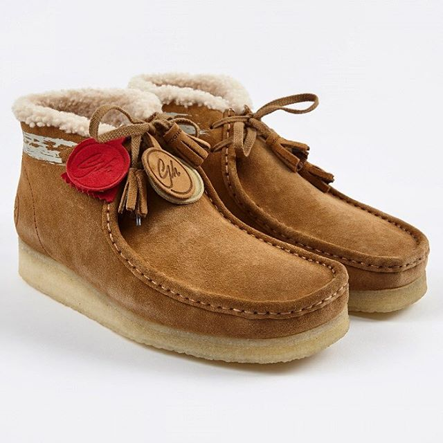 These @goodhood Wallabees are as good as it gets. #Clarks #Shearling #Menswear