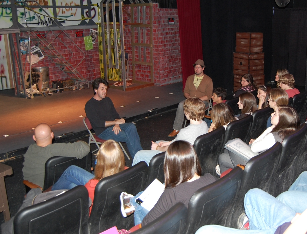 Jason Robert Brown gives a master class at the CAP Center