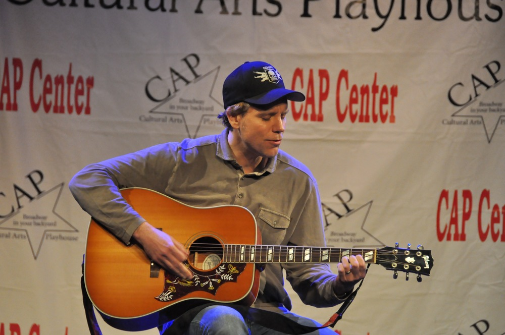 Adam Pascal sings at his master class at the CAP Center