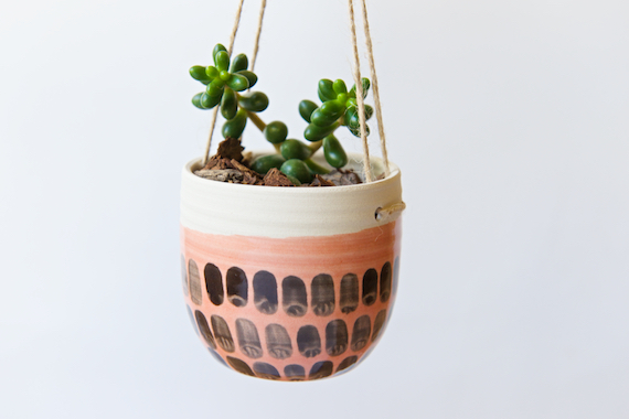 Hanging Planter - Indoor Planter Succulent Planter Cactus Air Plant Holder  Hanger Ceramic Planter Gifts for Mom for Wife Housewarming Ceramic - 40% OFF MOVING SALE! Hanging Planter - Indoor Planter Succulent