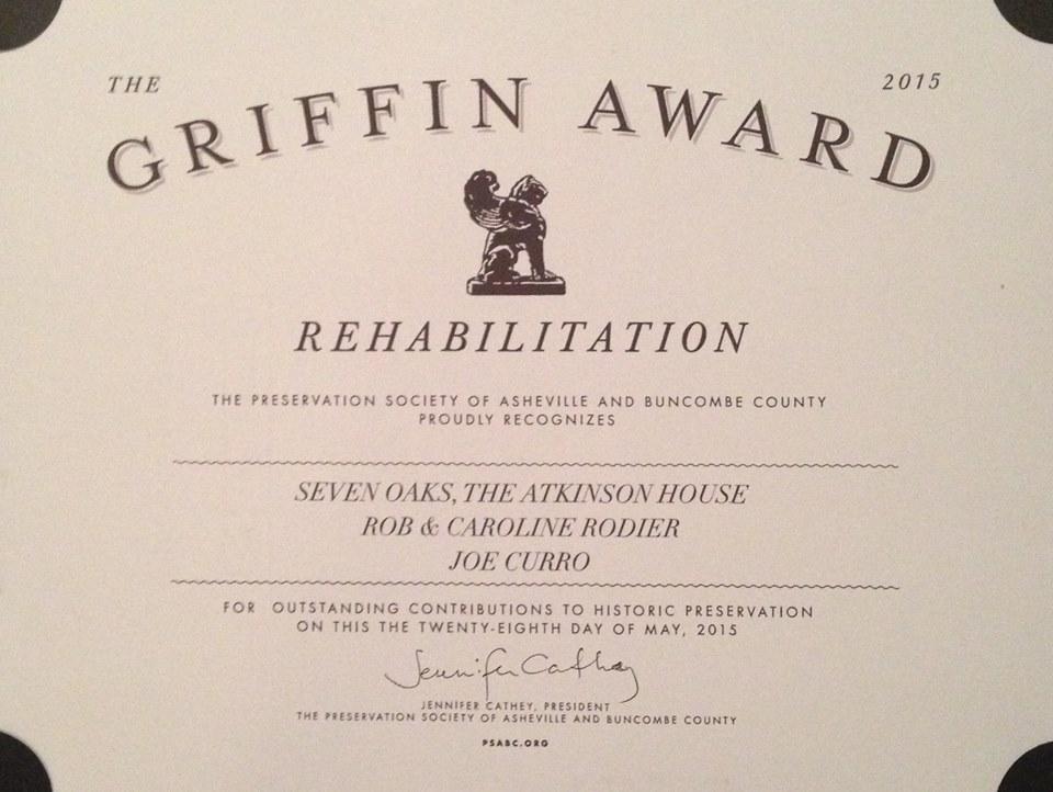 2015 Griffin Award