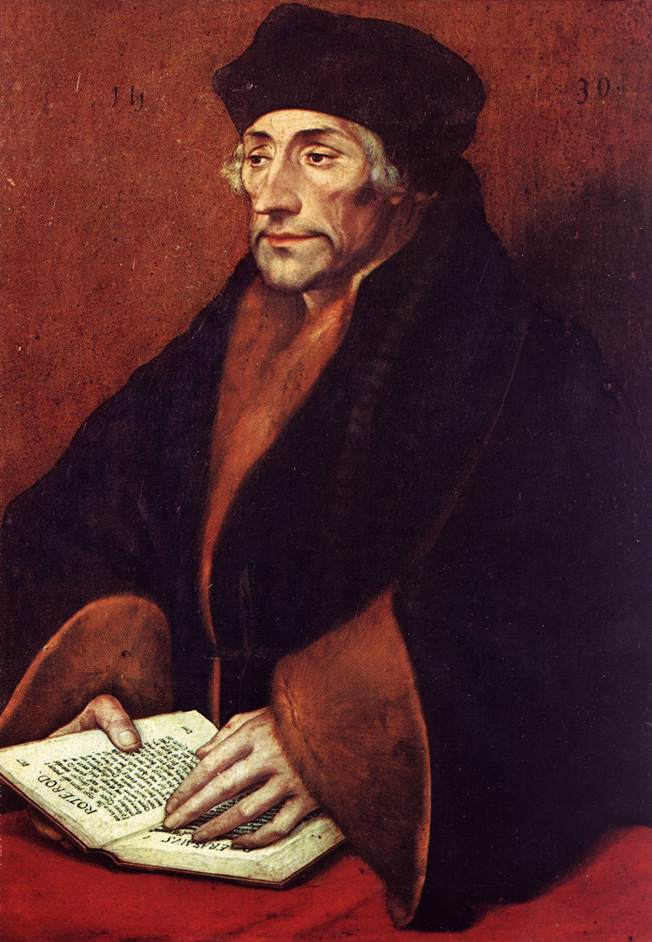 Erasmus by Hans Holbein the Younger [Public domain], via Wikimedia Commons.