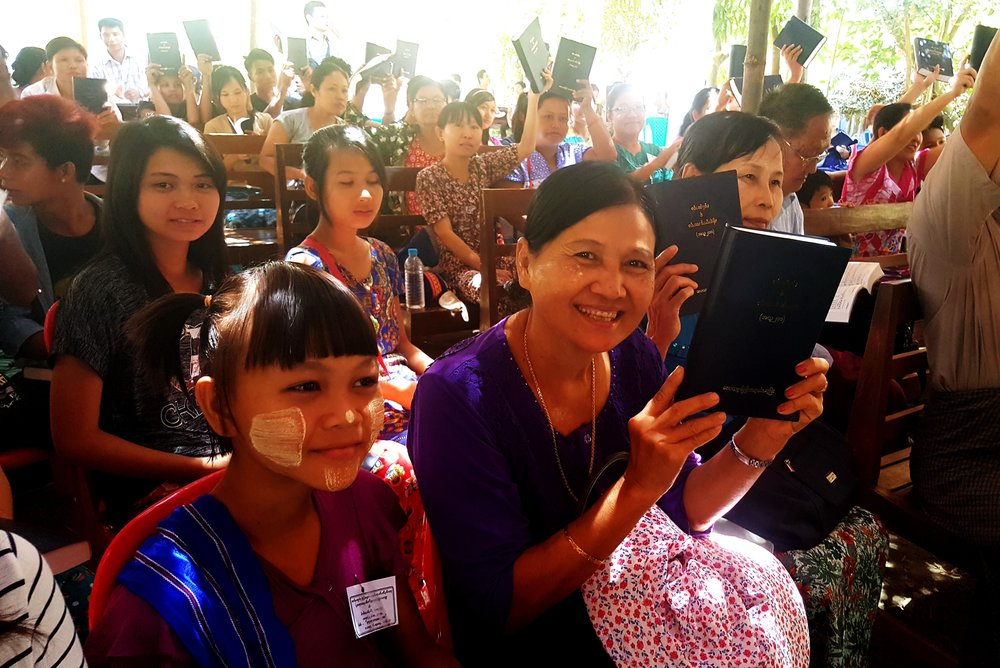 Photo: Pwo Karen Christians receive their first Bibles