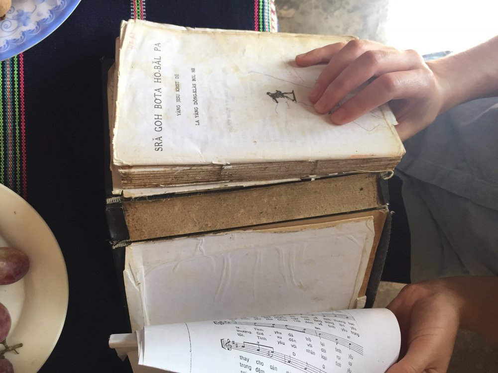 Photo: A well loved White Hmong Bible