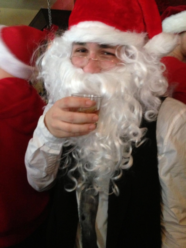 Business Casual Santa will be making an appearance at  Difficult to Name on Saturday, Dec. 9