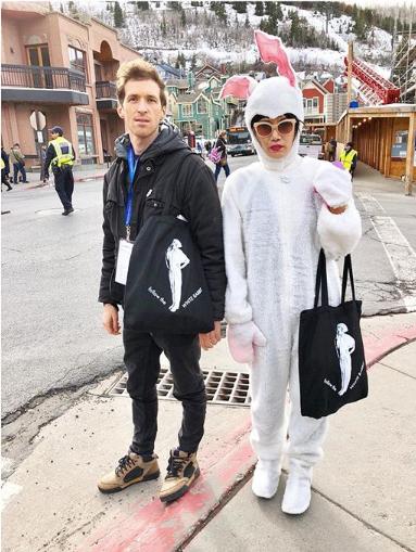 Daryl Wein and Vivian Bang at Sundance 2018 //  photo via Daryl Wein Instagram