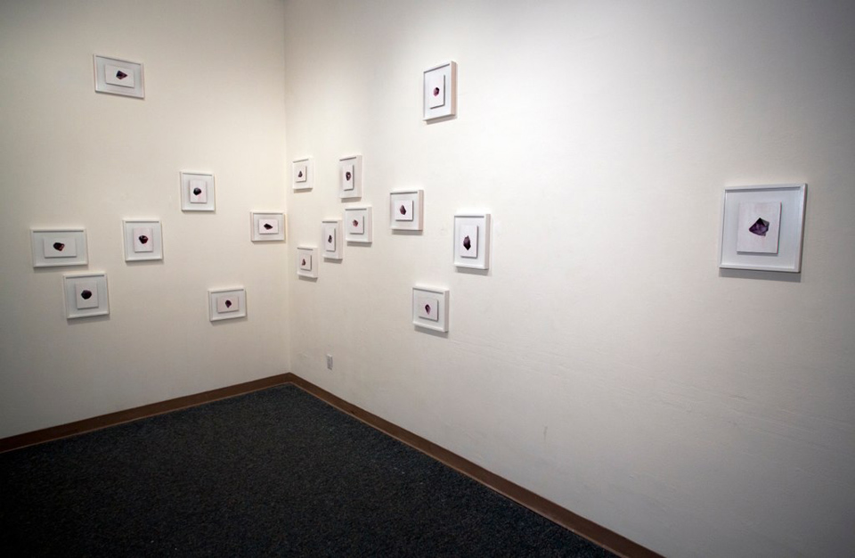 "Installation view of ""17 Stones"""