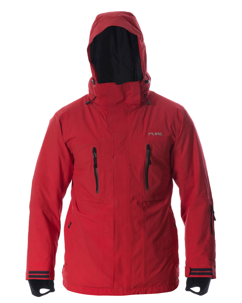 Niseko Men's Jacket - Red / Ebony Zips