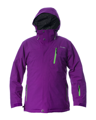 Telluride Men's Jacket - Grape / Green Zips