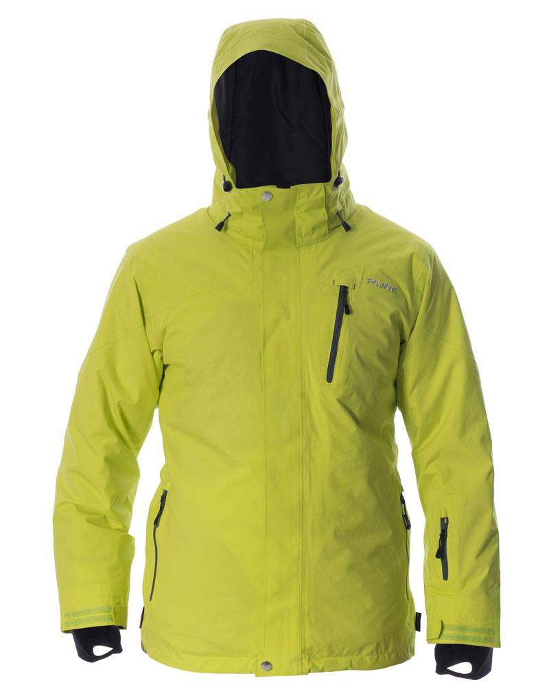 Telluride Men's Jacket - Lime / Ebony Zips