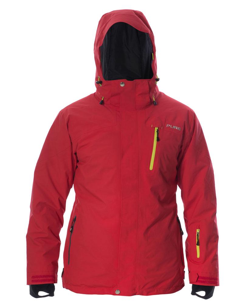 Telluride Men's Jacket - Red / Lime Zips