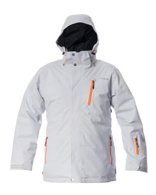Telluride Men's Jacket - Silver / Orange Zips
