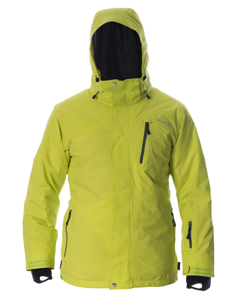 Telluride Men's Jacket - Lime / Ebony Zips
