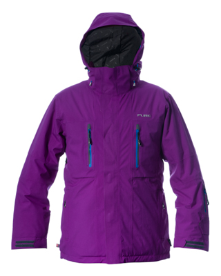 Niseko Men's Jacket - Grape / Notice Zips
