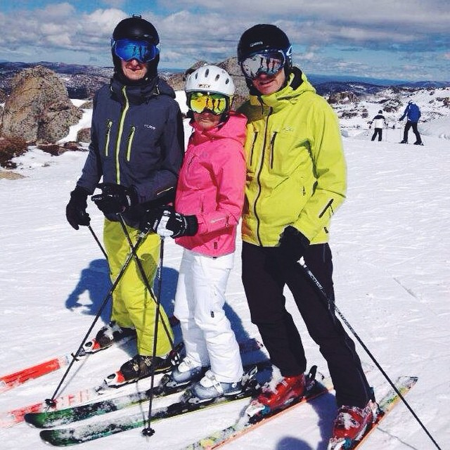 mike henley, sue and andy enjoying a wonderful ski   @thredboresort   today      #snow     #ski  #winter     #snow     #thredbo     #purebrandz     #puresnow