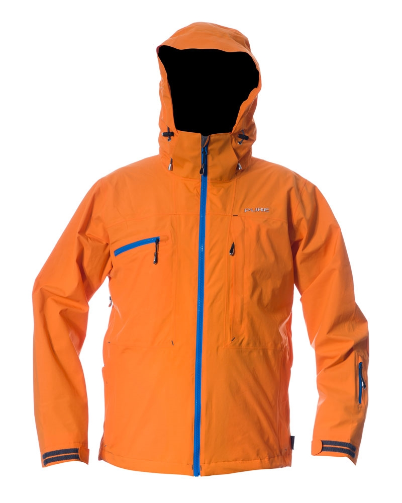 Kilimanjaro Men's Jacket - Orange / Notice Zips