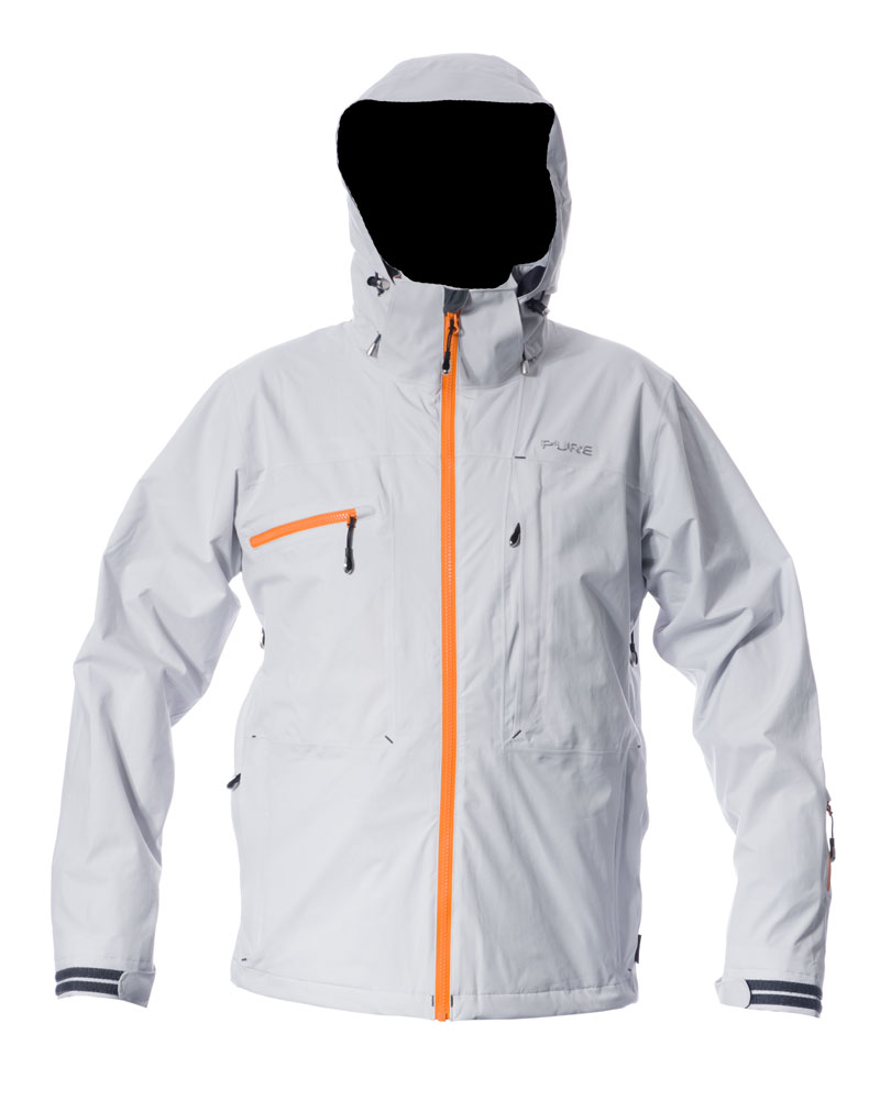 Kilimanjaro Men's Jacket - Silver / Orange Zips