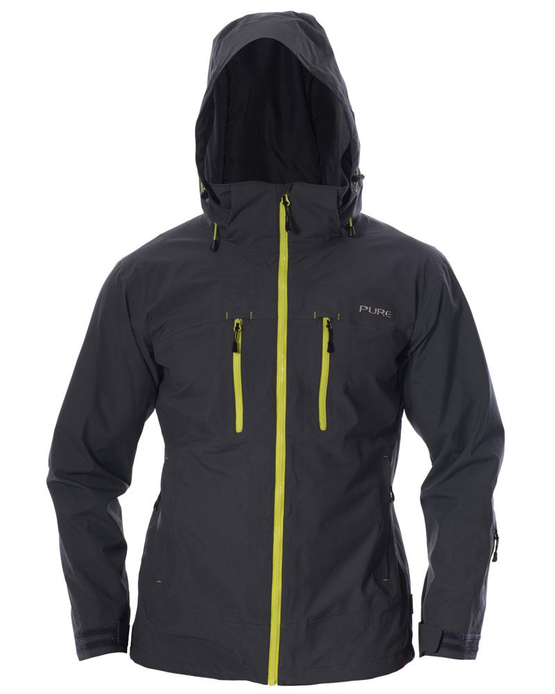 Everest Men's Jacket - Ebony / Lime Zips