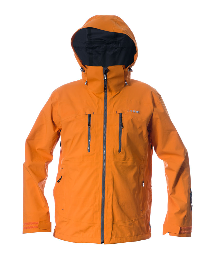 Everest Men's Jacket - Orange / Ebony Zips