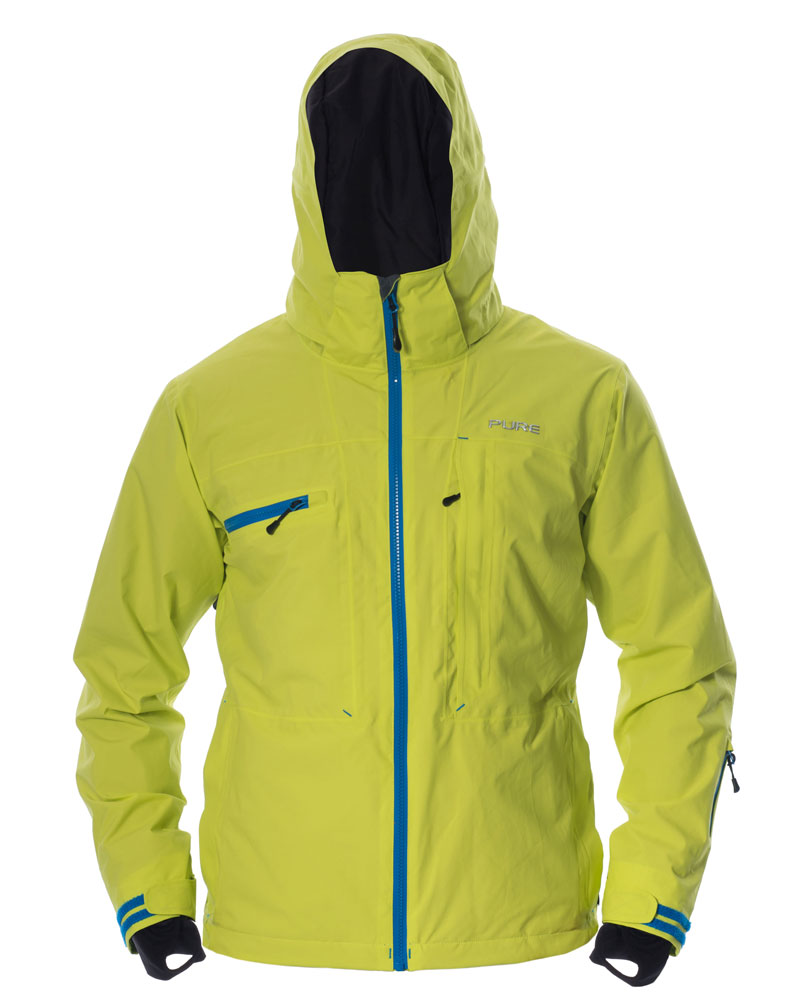 Kilimanjaro Men's Jacket - Lime / Notice Zips