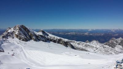 The Kitzteinhorn glacier above Kaprun in Austria