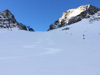 The snowpark at Stubai, in the Austrian Tirol