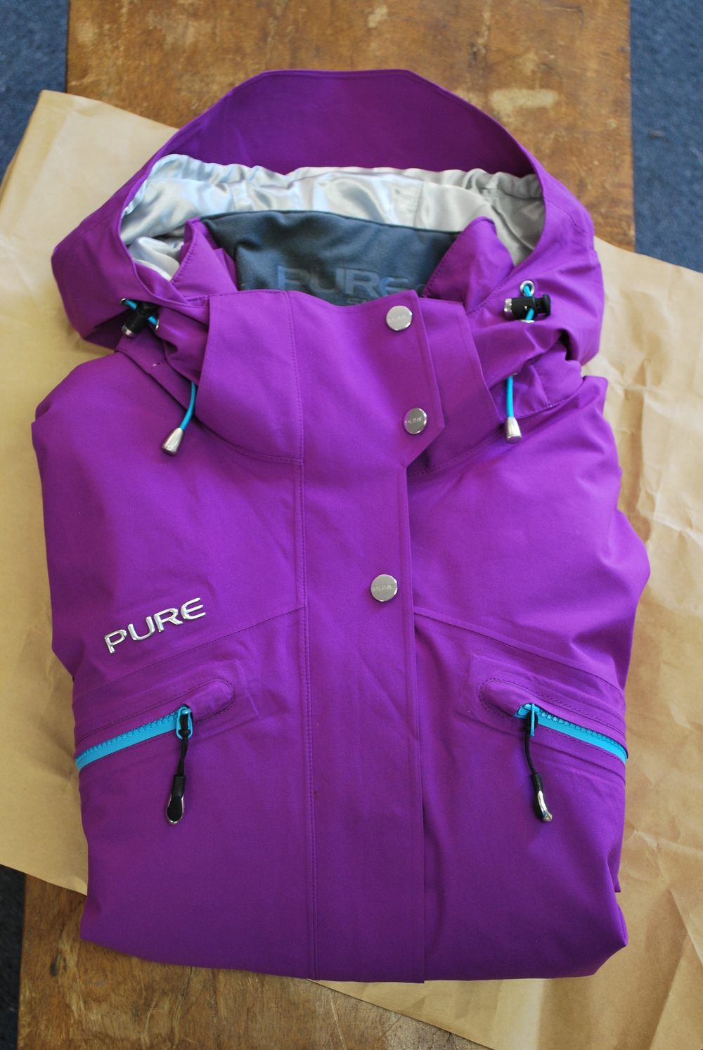 Pure Snow ski jacket in grape