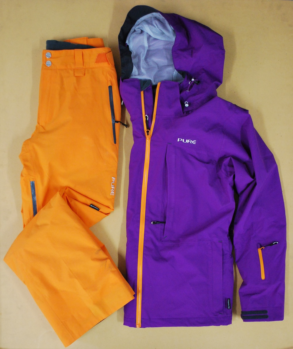 Pure Brandz grape jacket & orange pant
