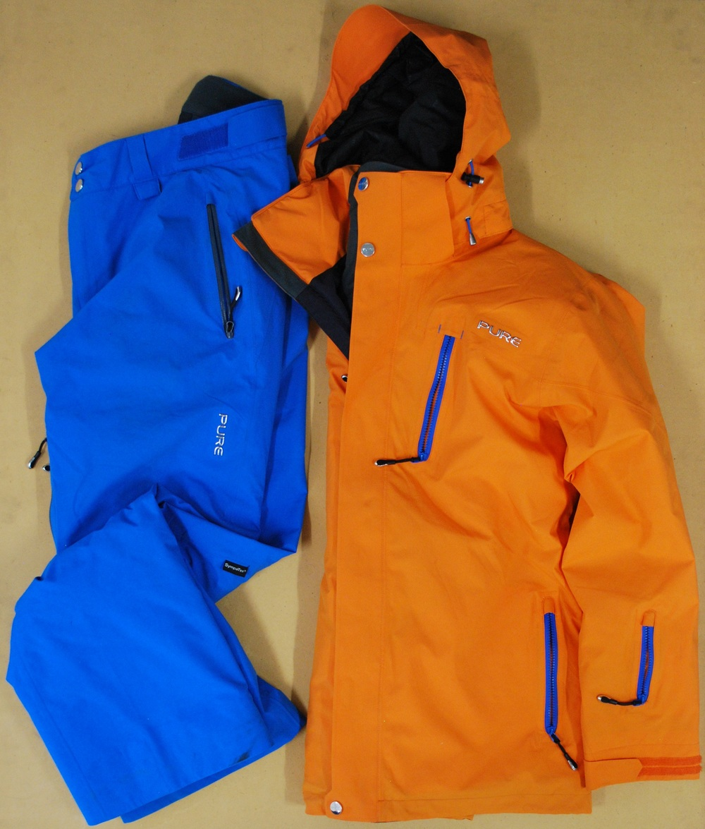 Pure Brandz orange jacket & blue pant