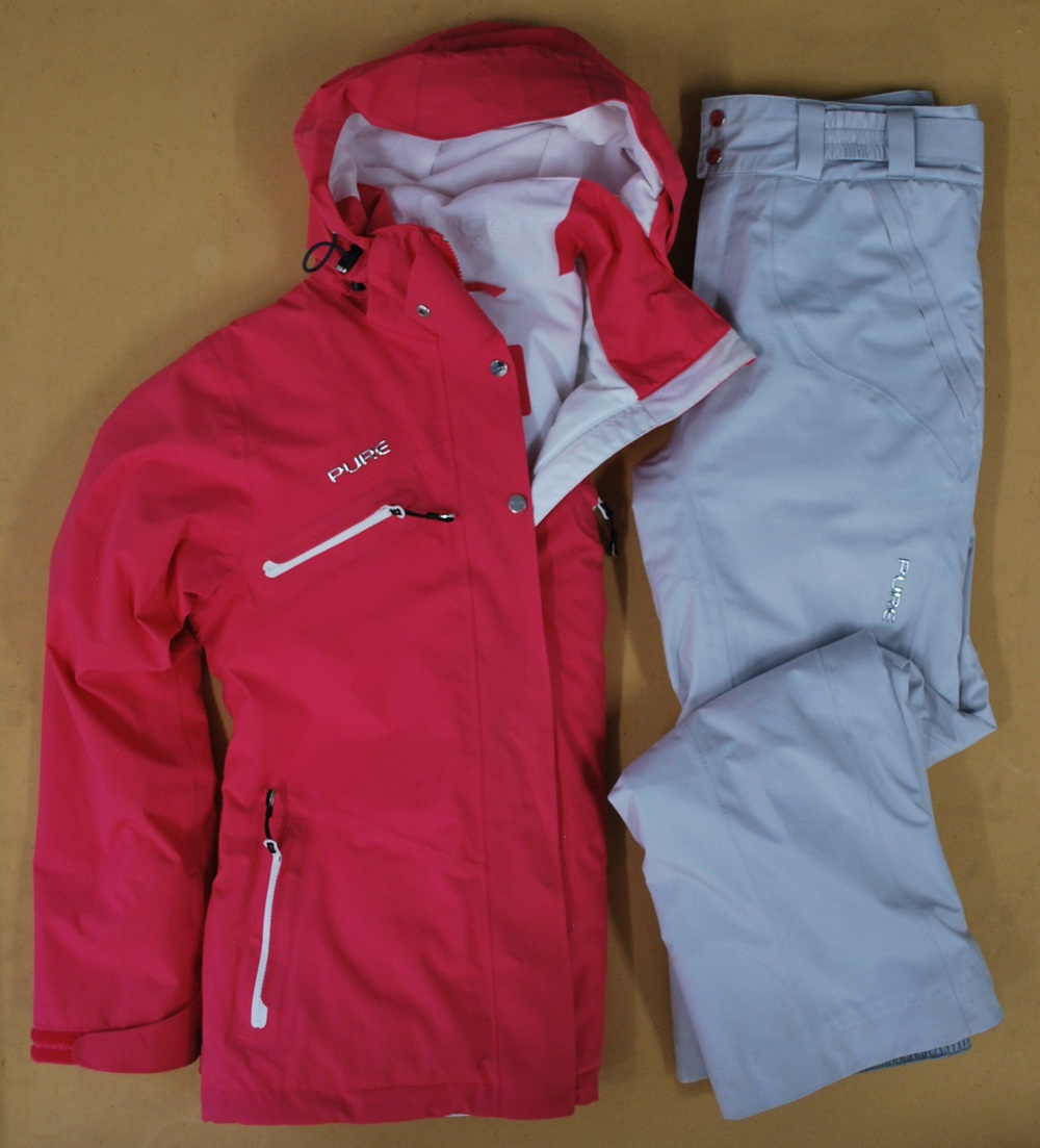 Pure Brandz raspberry jacket & white pant