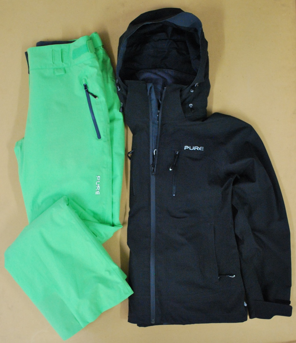 Pure Brandz black jacket & green pant